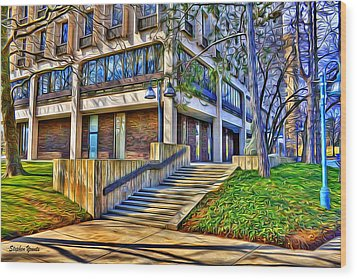 Morning Before Business Wood Print by Stephen Younts