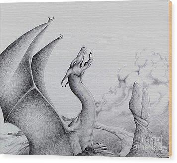 Morning Bellow Wood Print by Robert Ball