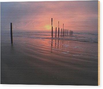 Morning Bliss Wood Print by Sharon Jones