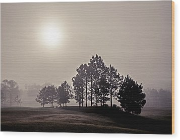 Morning Calm Wood Print by Annette Berglund