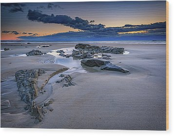 Wood Print featuring the photograph Morning Calm On Wells Beach by Rick Berk