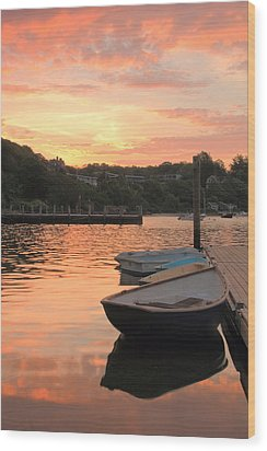 Morning Calm Wood Print by Roupen  Baker