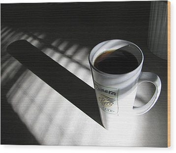 Morning Coffee Wood Print