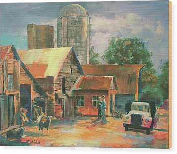 Morning Conference Wood Print by Carol Strickland