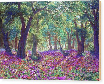 Morning Dew Wood Print