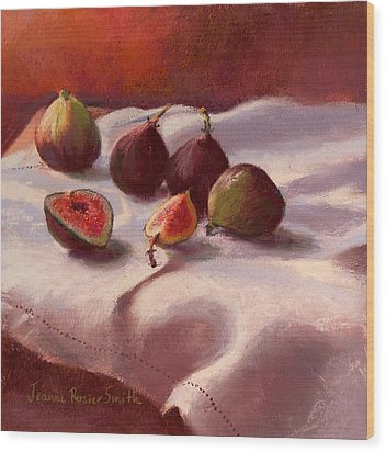 Morning Figs Wood Print by Jeanne Rosier Smith
