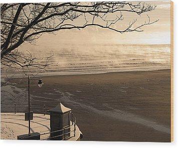 Morning Filey Beach Wood Print by Svetlana Sewell