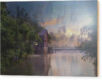 Wood Print featuring the photograph Morning Fishing  by Joel Witmeyer