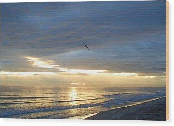 Morning Flight Wood Print by Cheryl Waugh Whitney