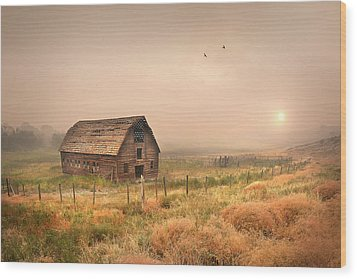 Wood Print featuring the photograph Morning Flight by John Poon