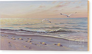 Morning Glisten Wood Print by Joe Mandrick