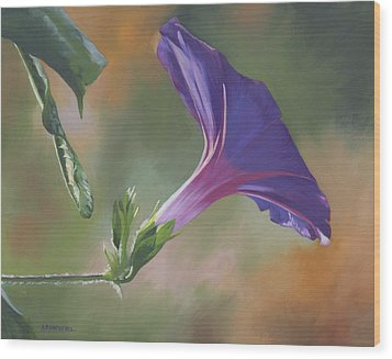 Wood Print featuring the painting Morning Glory by Alecia Underhill