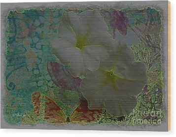 Morning Glory Fantasy Wood Print