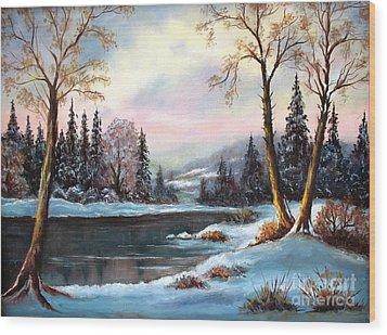 Morning Glory Wood Print by Hazel Holland