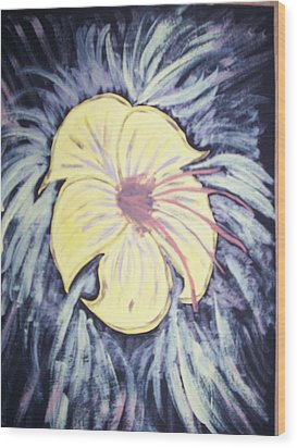 Morning Glory Wood Print by Laura Lillo
