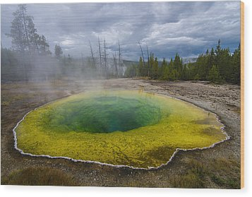 Wood Print featuring the photograph Morning Glory Pool by Gary Lengyel