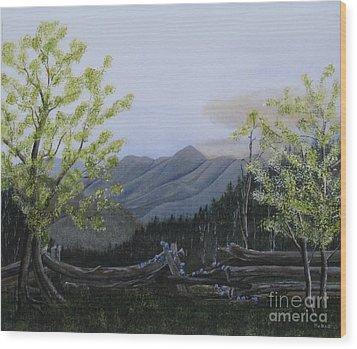 Morning Glory Sunrise Wood Print by RJ McNall