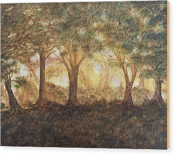 Morning Glow Wood Print by Jeanette Stewart