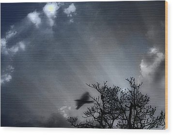 Wood Print featuring the photograph Morning  by Gray  Artus