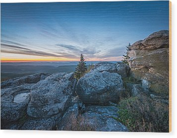Monongahela National Forest Wilderness Morning Light Wood Print by Rick Dunnuck
