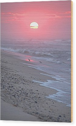 Wood Print featuring the photograph Morning Haze by  Newwwman