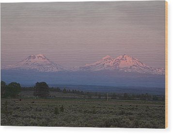 Morning In Central Oregon Wood Print