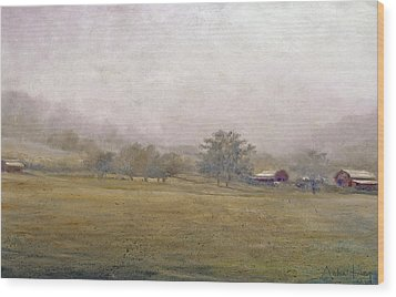 Wood Print featuring the painting Morning In Georgia by Andrew King