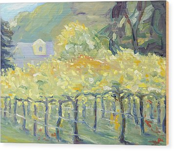 Morning In Napa Valley Wood Print