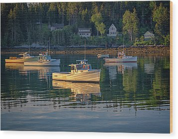Wood Print featuring the photograph Morning In Tenants Harbor by Rick Berk
