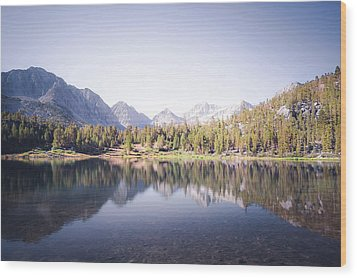 Morning Light At Heart Lake Wood Print by Alexander Kunz