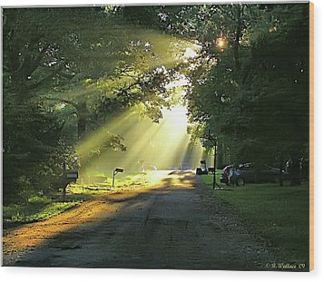 Wood Print featuring the photograph Morning Light by Brian Wallace