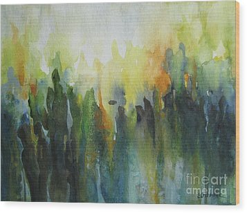 Wood Print featuring the painting Morning Light by Elena Oleniuc