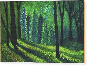 Wood Print featuring the painting Morning Light by John Scates