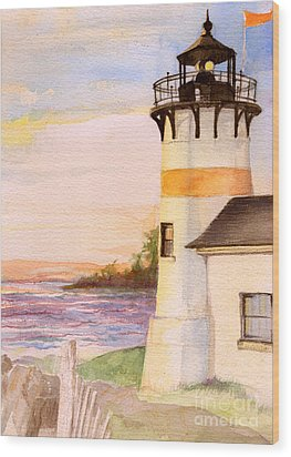Morning, Lighthouse Wood Print