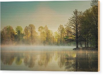 Wood Print featuring the photograph Morning Mist At Honor Heights  by James Barber