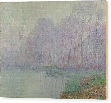 Morning Mist Wood Print by Gustave Loiseau