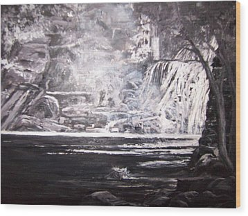 Morning Mist -theresa Falls Wood Print