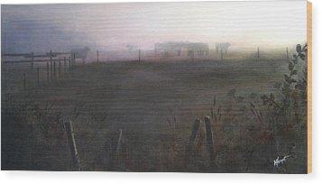 Morning Mist Wood Print by Victoria Heryet