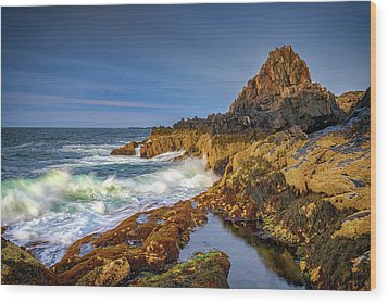 Wood Print featuring the photograph Morning On Bailey Island by Rick Berk