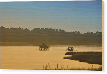 Morning On The Bay Wood Print by Bill Cannon
