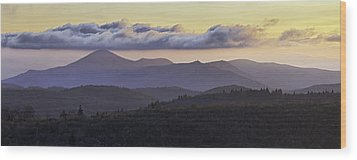 Morning On The Blue Ridge Parkway Wood Print by Rob Travis