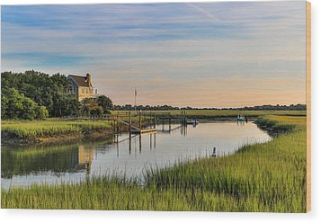 Morning On The Creek - Wild Dunes Wood Print