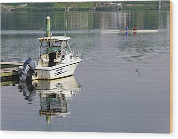 Wood Print featuring the photograph Morning On The Navesink River 2 by Gary Slawsky