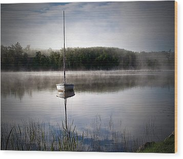 Morning On White Sand Lake Wood Print by Lauren Radke