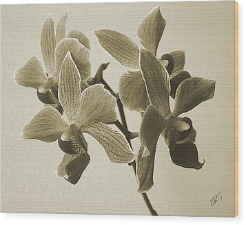 Morning Orchid Wood Print by Ben and Raisa Gertsberg