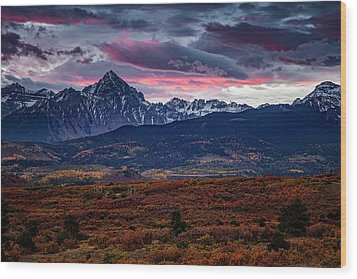Wood Print featuring the photograph Morning Over The Rockies by Andrew Soundarajan