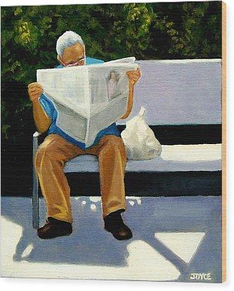 Morning Paper Wood Print by Joyce Geleynse