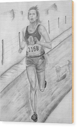 Morning Race Wood Print by Russ  Smith