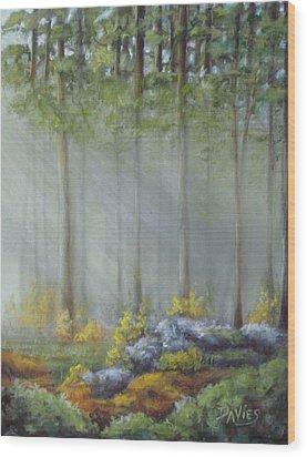 Morning Rays Wood Print by Debra Davies