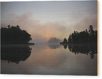 Morning Reflection Wood Print
